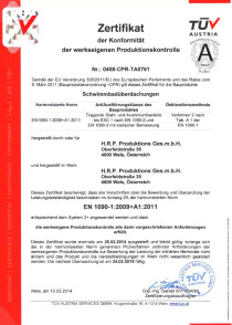 Zertifikat TÜV Österreich